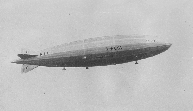 The British Airship R101 Over Hinckley In 1930