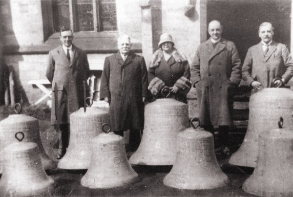 the bells after being recast.