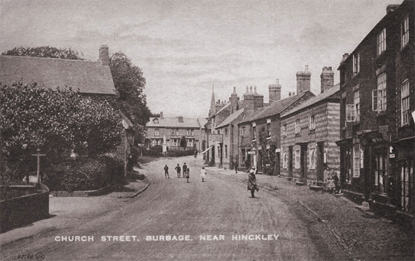 view of church street in burbage during the 1920s