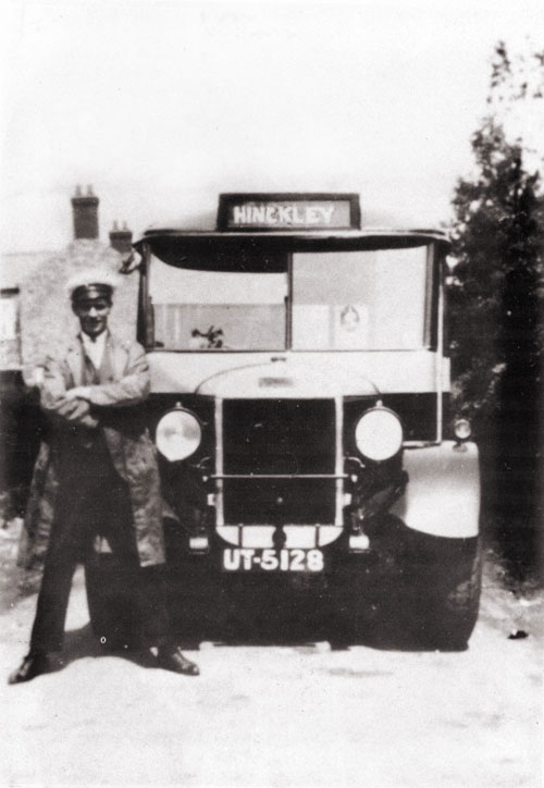 jim robinson with the new six-cylinder thornycroft coach
