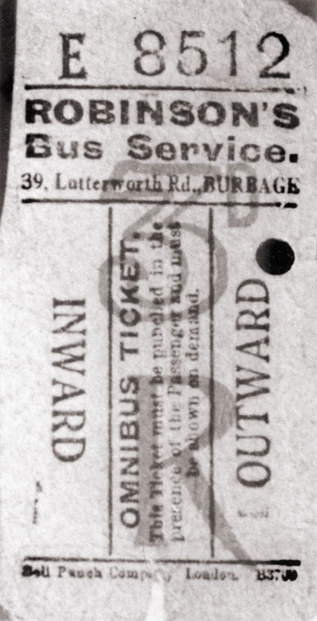 3d return ticket for the burbage to hinckley journey