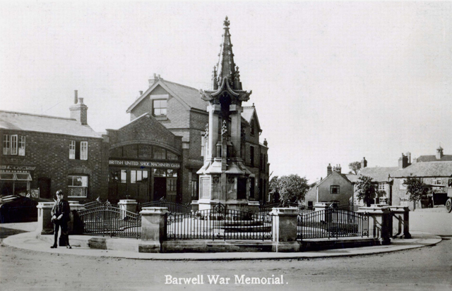 top town and the war memorial in barwell leicestershire
