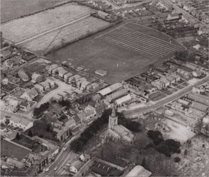 Air view of the Hinckley Road ground in 1978 still showing Warings Field.