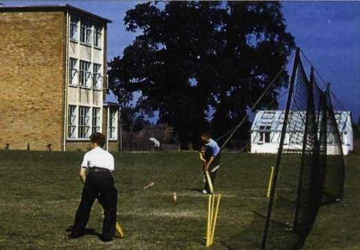 A wicket was laid at the newly built Hastings High School in 1956 by En Tout Cas of Syston.