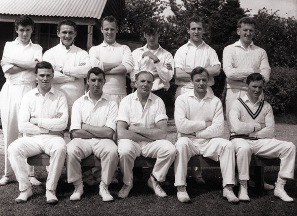 Burbage 2nd's cricket team in 1964.