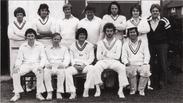 Burbage cricket team in 1978