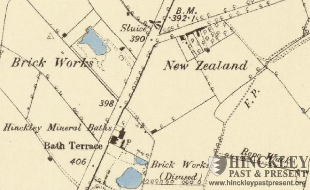 1887 map showing the Big Pit