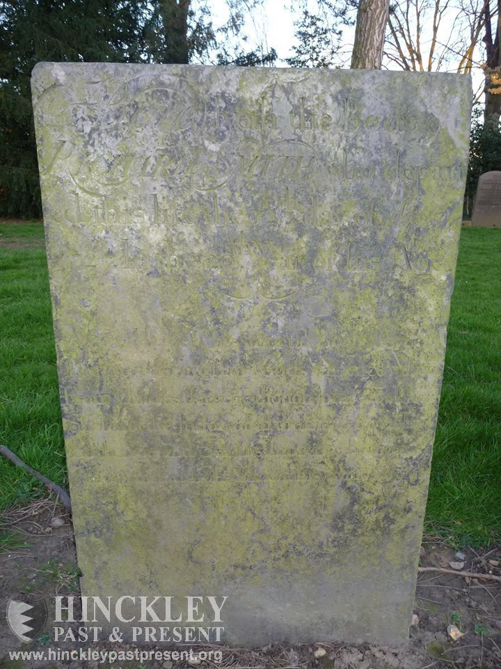 the bleeding gravestone in hinckley