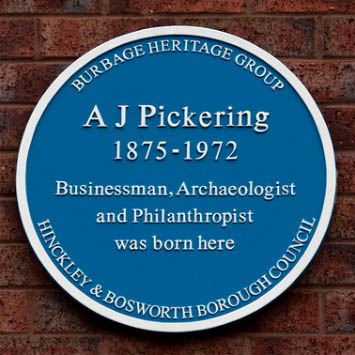 Blue Plaque for A.J. Pickering