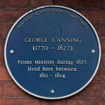Blue Plaque for George Canning
