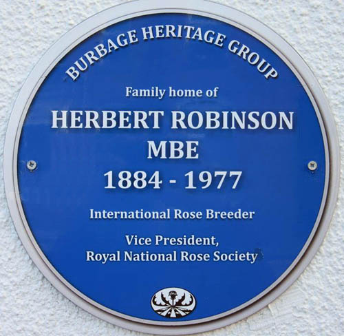 Blue Plaque for Herbert Robinson