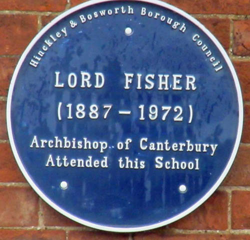 Blue Plaque for Lord Geoffrey Fisher