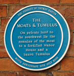 Blue Plaque for the Moats and Tumulus