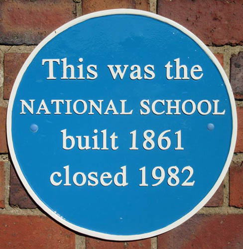 Blue Plaque for the National School