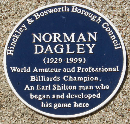 Blue Plaque for Norman Dagley