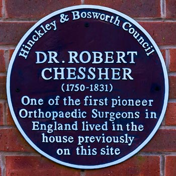 Blue Plaque for Dr Robert Chessher