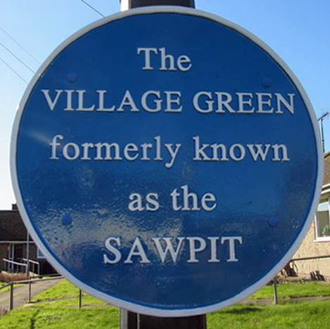 Blue Plaque for the Sawpit