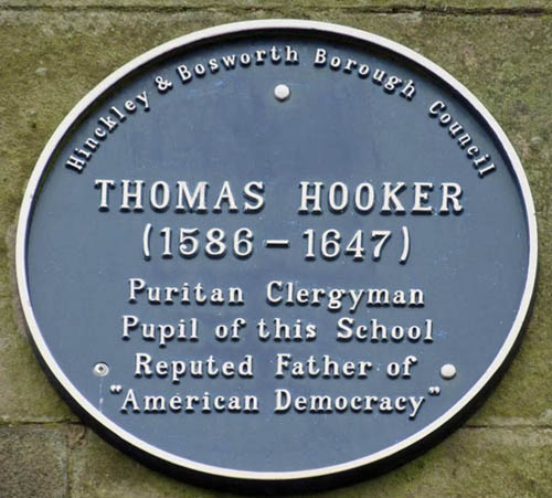 Blue Plaque for Thomas Hooker
