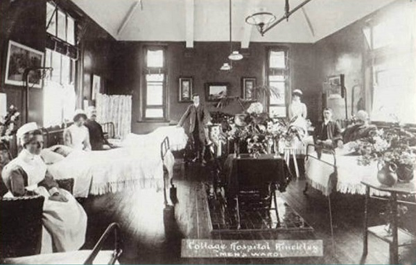 a view of the mens ward in 1905