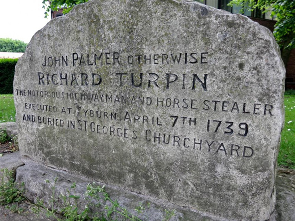 the grave stone of dick turpin