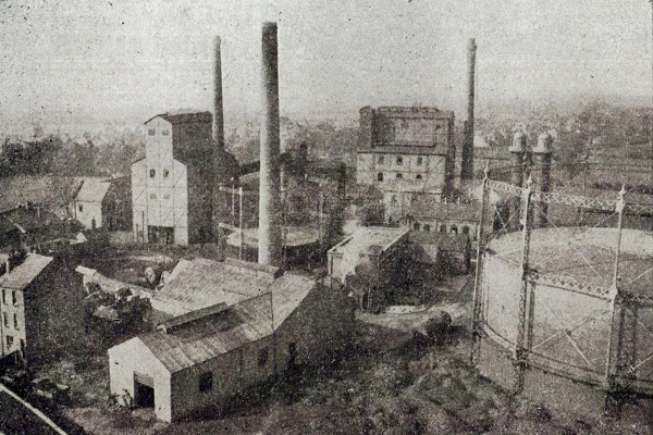 Hinckley Gas Works in the 1947