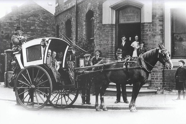 The Hansom Cab designed by Joseph Hansom in Hinckley