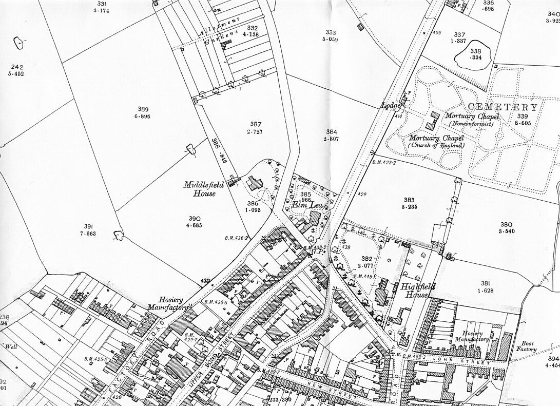 1903 Ordnance Survey Map of Hinckley