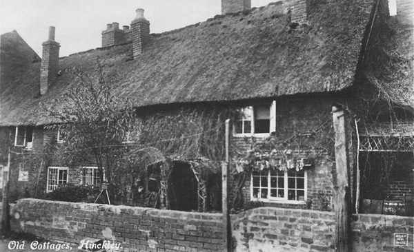 Rear view of Church Walk cottages, 1920s