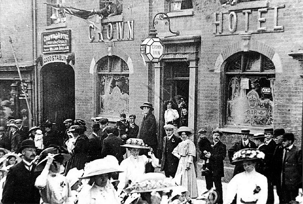 The Crown Hotel during the coronation clelebrations for George V - June 1911