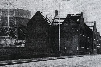 Demolition of 'Bleak House' in progress, 1970s