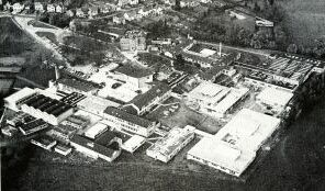 Aerial view of the John Cleveland College, about 1976