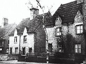 cottages on Upper Castle Street, early 20th century