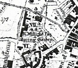 As shown on Edward Phillip's map of 1818