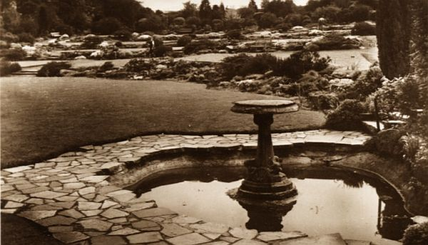The rock gardens, Hollycroft Park, about 1935