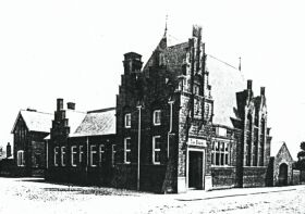 The library before the erection of the council offices, about 1900