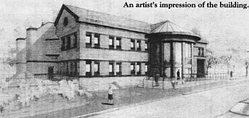 Architect's perspective of the hinckley magistrates court