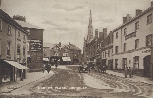 Market Place in 1925, with White Hart Hotel to the left