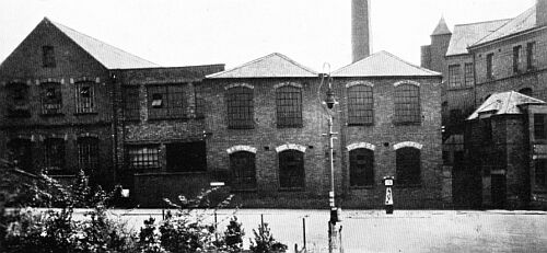 factory buildings from Leicester Road