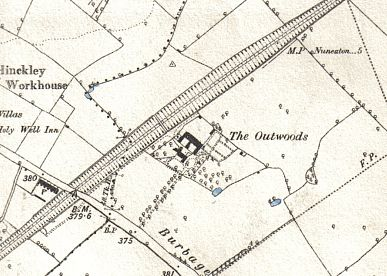 The Outwoods as shown on the 1889 Ordnance Survey