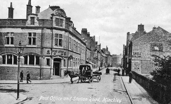hinckely post office along station road in 1902