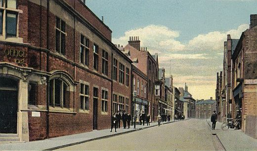Hinckley Post Office and Station Road, about 1905