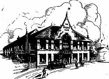 Architect's perspective of the proposed regent club building
