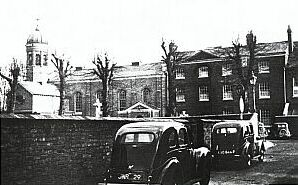 church and priory, a handsome late Georgian ensemble, in 1957