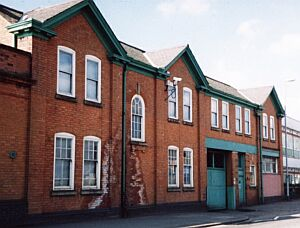 The sketchley dye works main front on Rugby Road designed by W. T. Grewcock (Spring 2003)