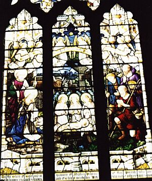 Pilgrim Memorial window in south aisle by Burlison and Grylls, 1921