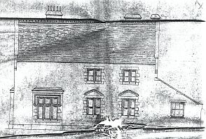 William Wigginton's drawing for Hinckley Vicarage (Church of England Record Office)