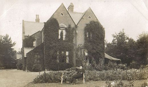 St. Mary's Vicarage, with vicar, about 1905