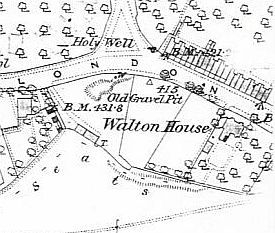 Walton House from the 1885-6 Ordnance Survey