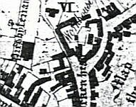 The old workhouse as shown on Edward Phillips map of 1818