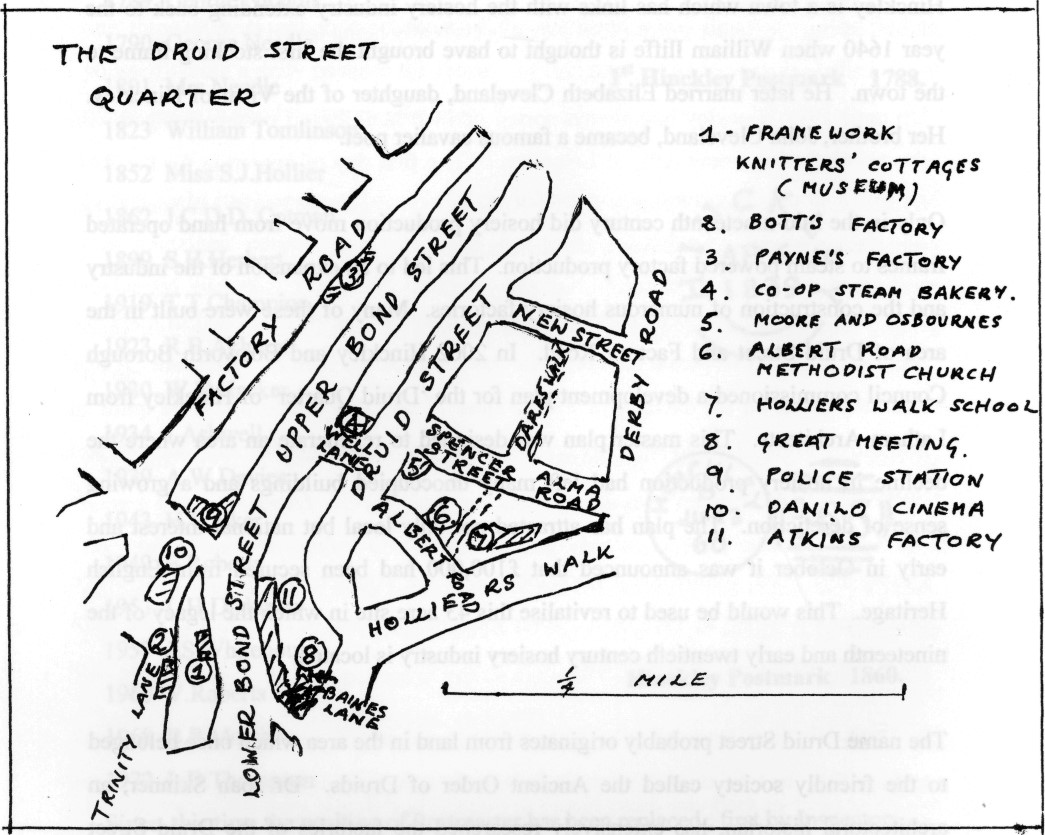 Map of Druid Street Quarter